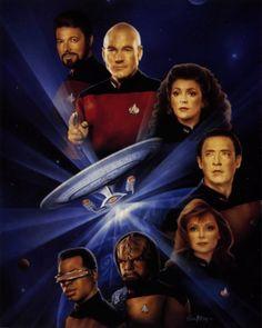 star trek tng   Star Trek-The Next Generation TNG Crew