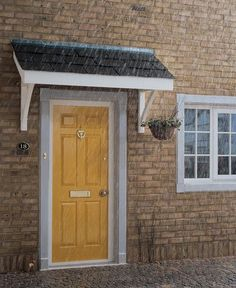 Flat Roof Porch Canopy available from Chiltern Timber Porch Canopy Kit, Over Door Canopy, Front Door Awning, Porch Overhang, Backyard Canopy, Garden Canopy, Canopy Outdoor, Porch Canopy Designs, Door Canopy Modern