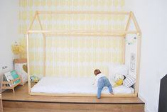 70  x 140 cm lit cabane Toddler bed play house bed frame