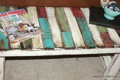 Beyond The Picket Fence: Patchwork Pallet - craft room table?