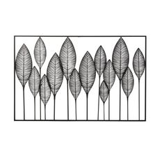 Black Metal Leaves Wall Decor,Wb Ds - Sagebrook Home romance with a complete touch of interesting is exactly what you'll get with this Red Barrel Studio modern leaves wall decor. The different heights to each leaf give it a more realistic Metal Wall Decor, Metal Wall Art, Iron Wall, Sun Lounger Cushions, 3d Art, Inspiration Wall, Black Decor, Metal Walls, Black Metal