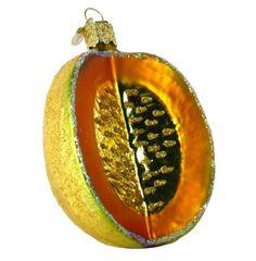Cantaloupe Ornament. #Christmas #NewYear #Ornament #Decor #giftidea #Gift #gosstudio .★ We recommend Gift Shop: http://www.zazzle.com/vintagestylestudio ★