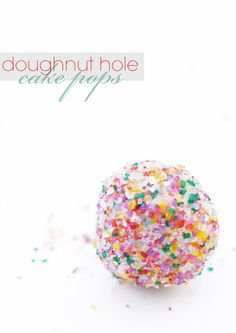 DIY-doughnut-cake-pop. So easy! Roll a doughnut hole in frosting and then cover with sprinkles and put it on a stick.