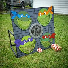 """Ninja Turtles Birthday Party I made this game, """"Feed the Turtles"""" for my nephew's birthday party :)"""