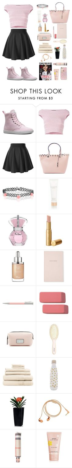 """""""Spring's here"""" by chintyar ❤ liked on Polyvore featuring Dr. Martens, Alexander McQueen, Nine West, Monsoon, Talbots, Christian Dior, Kate Spade, Faber-Castell, Marc Jacobs and L. Erickson"""