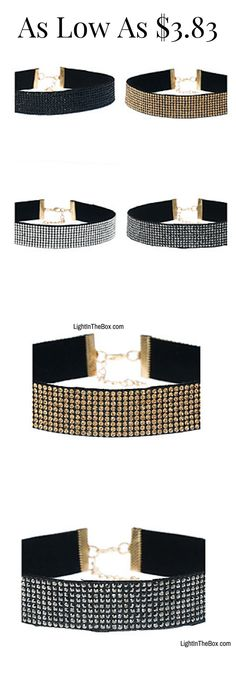 Can't find your perfect all-matching  choker? Click on the picture to discover these sparkling statement chokers in silver, gold, black colours at just $3.83. Click to shop!