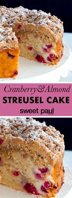 The most wonderful and flavorful streusel cake! Every bite is moist and delish!