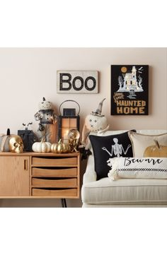 Add a touch of Halloween glam to your interior décor this fall with this golden pumpkin