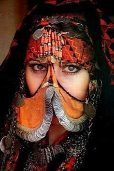 A picture of Bedouin women ... and is wearing  the traditional dress for  Egyptian  women in oases area .