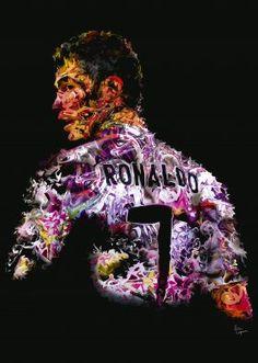 """Cristiano Ronaldo"" by Eric Lapierre - 32x45cm"
