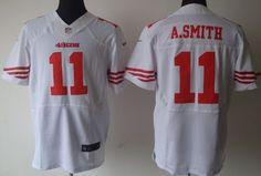 Nike San Francisco 49ers #11 Alex Smith White Elite Jersey