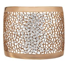 Diamond and Gold Cuff Bracelet