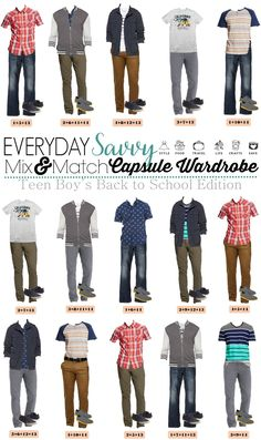 We know that buying boys teenage back to school outfits can be tough. This list makes back to school shopping easy. We put together 15 mix and match outfits for school including shoes! Everything is from Target and you can buy all 14 items including shoes for a great price.                                                                                                                                                                                 More