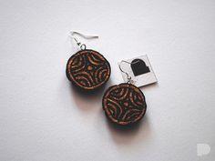 Seria kolczyków z korka :) A series of earrings made of cork :) #pinka #handmade #bizuteria #jewellery #jewelry #slavic #wzorki #pattern #eco #fashion #earrings #kolczyki