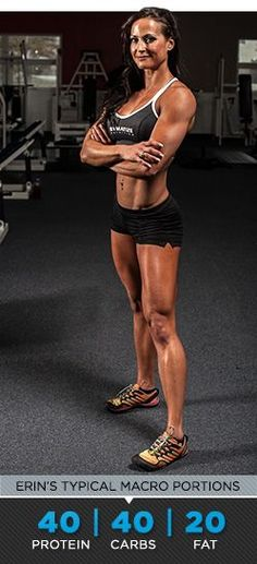 Erin Stern is a figure competitor, sprinter, and jumper. She eats to fuel her active lifestyle. Follow her plan to fuel your own action figure physique!