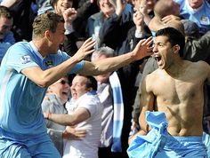 #MCFC The moment #ManchesterCity won the Premier League, #Aguero scoring 4 minutes into stoppage time. May 2012