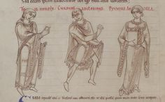 1150 - Terence's Comedies, in Latin, with Romanesque drawings. 54v