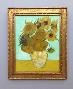 Sunflowers by Vincent van Gogh at the Neue Pinakothek / München