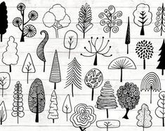 Your place to buy and sell all things handmade Tree Doodles Clipart - 32 Hand Drawn Tree Cliparts - Tree Logo Art - Botanical Logo Elements - botanical Illustration - . Doodle Drawing, Doodle Art, Doodle Trees, House Illustration, Botanical Illustration, Girl Illustrations, Dragonfly Illustration, Logo D'art, Logo Type