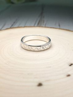 Mountain Ring /Mountain Ring with engraved Custom by NaosJewel