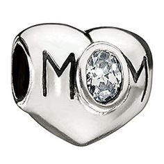 Mom Heart - Clear CZ