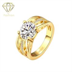 Gold Rings Designs Trendy Hollow Geometric Inlaid Cubic Zirconia 18K Gold Plated Engagement Ring for Women US Size 7/8 Yards,   Engagement Rings,  US $4.69,   http://diamond.fashiongarments.biz/products/gold-rings-designs-trendy-hollow-geometric-inlaid-cubic-zirconia-18k-gold-plated-engagement-ring-for-women-us-size-78-yards/,  US $4.69, US $3.99  #Engagementring  http://diamond.fashiongarments.biz/  #weddingband #weddingjewelry #weddingring #diamondengagementring #925SterlingSilver…