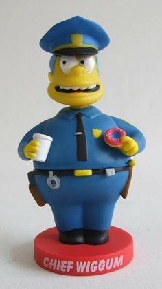 Figura Wiggun Policía Simpson | Merchandising Películas