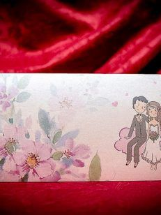 Invitatie nunta si botez mirii si carutul cu bebe 5019 • Cataloginvitatii Text Color, Exterior, Weddings, Floral, Model, Painting, Art, Art Background, Wedding