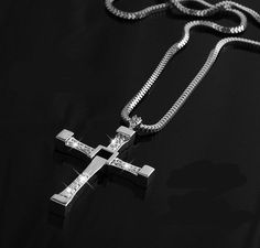 actor Toledo Cross Pendant Necklace Fast & Furious Men Jewelry Nickel Free Fashion Necklaces For Men 2015