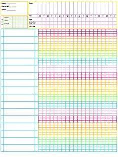 Gradebook - Pastel Rainbow Colors by Jessica's Classroom Essentials Attendance Sheet Template, Attendance Sheets, Teacher Binder Covers, Teacher Planner Free, Classroom Attendance, Teacher Grade Book, Weekly Planner Template, Daily Planner Pages, Lesson Planner