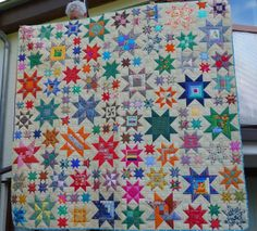 "A number of beautiful variations on this triple star quilt found on this web page. Grit's Life: Bilder ""Oh My Stars"""