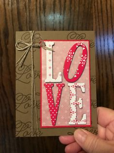 Valentine Card using Stampin' Up! Sealed with Love stamp set, Sending Love DSP and Large Letters Framelit Dies dianespaperdesigns.typepad.com