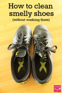What is it with boys and shoes? You can clean smelly shoes in just a few minutes with this quick and easy 2 ingredient DIY recipe. Also works great for other stinky sports equipment and gym bags!