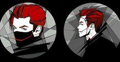 Gotham Joker, Joker And Harley Quinn, Anime Couples Drawings, Couple Drawings, Jerome Valeska Joker, Gotham Series, Cameron Monaghan, Riddler, Dc Comics