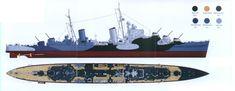 HMS Argonaut Dido-class AA light cruiser Modeling Tips, Navy Ships, Submarines, Royal Navy, Battleship, World War Two, Wwii, Air Force, Army