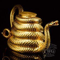 TEA TIME~ sip Darjeeling Tea steeped in this Sahara Gold Snake Teapot.