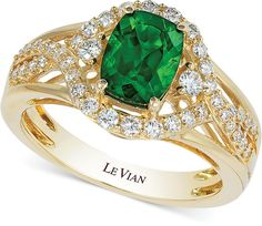 Le Vian Chrome Diopside (1-1/3 ct. t.w.) and Diamond (3/8 ct. t.w.) Ring in 14k Gold