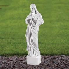 Jesus Christ 42cm Religious Statue Marble Garden Ornament. Buy Now At  Http://