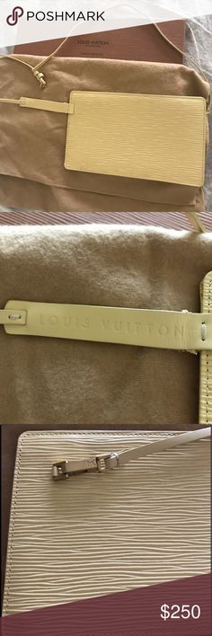 "Louis Vuitton epi leather Rochelle waist bag Authentic Louis Vuitton epi leather waist shoulder or cross body bag. ""Rochelle"" in super condition. A small mark inside as shown in picture otherwise almost new it's 8""x4 3/4""X1 1/2"". Includes dust bag and box. Louis Vuitton Bags"