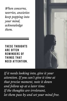 Settingyour mind free Mind Gym, No Worries, Anxiety, Meditation, Mindfulness, Positivity, In This Moment, Let It Be, Thoughts