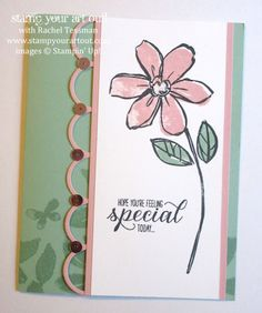 One of my swap cards made with Garden In Bloom stamp set… #stampyourartout #stampinup - Stampin' Up!® - Stamp Your Art Out! www.stampyourartout.com