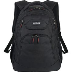 "Brand New Kenneth Cole Reaction Black 16"" Compu-Backpack / MacBook Pro Bookbag #KennethColeReaction #Backpack"