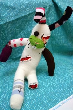Sock Zombie Rabbit - Kid would have a field day!