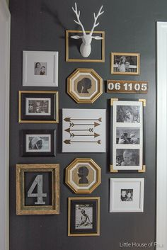 Katie who writes the blog Little House of Four recently shared this hallway update she did. It includes matted and framed silhouettes of her children. Charming and timeless!