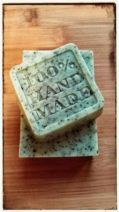 Hand made glycerine soap with an organic by AlSaponeHandmadeSoap