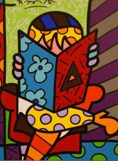#Livro ♡ by Romero Britto #Arte #Ilustração ☆ Leiam +.