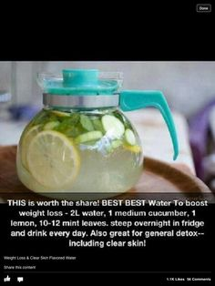 Mint, cucumber, lemon, detox