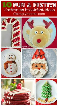 Gingerbread Waffles, Santa Pancakes, and more fun and festive Christmas Breakfast ideas!
