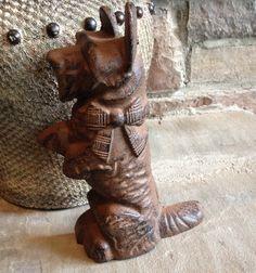 Vintage Cast Iron Door Stop Scottie Dog by MyVintageAlcove on Etsy