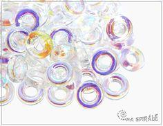 Kroužek, 9 mm, crystal AB, 10 ks